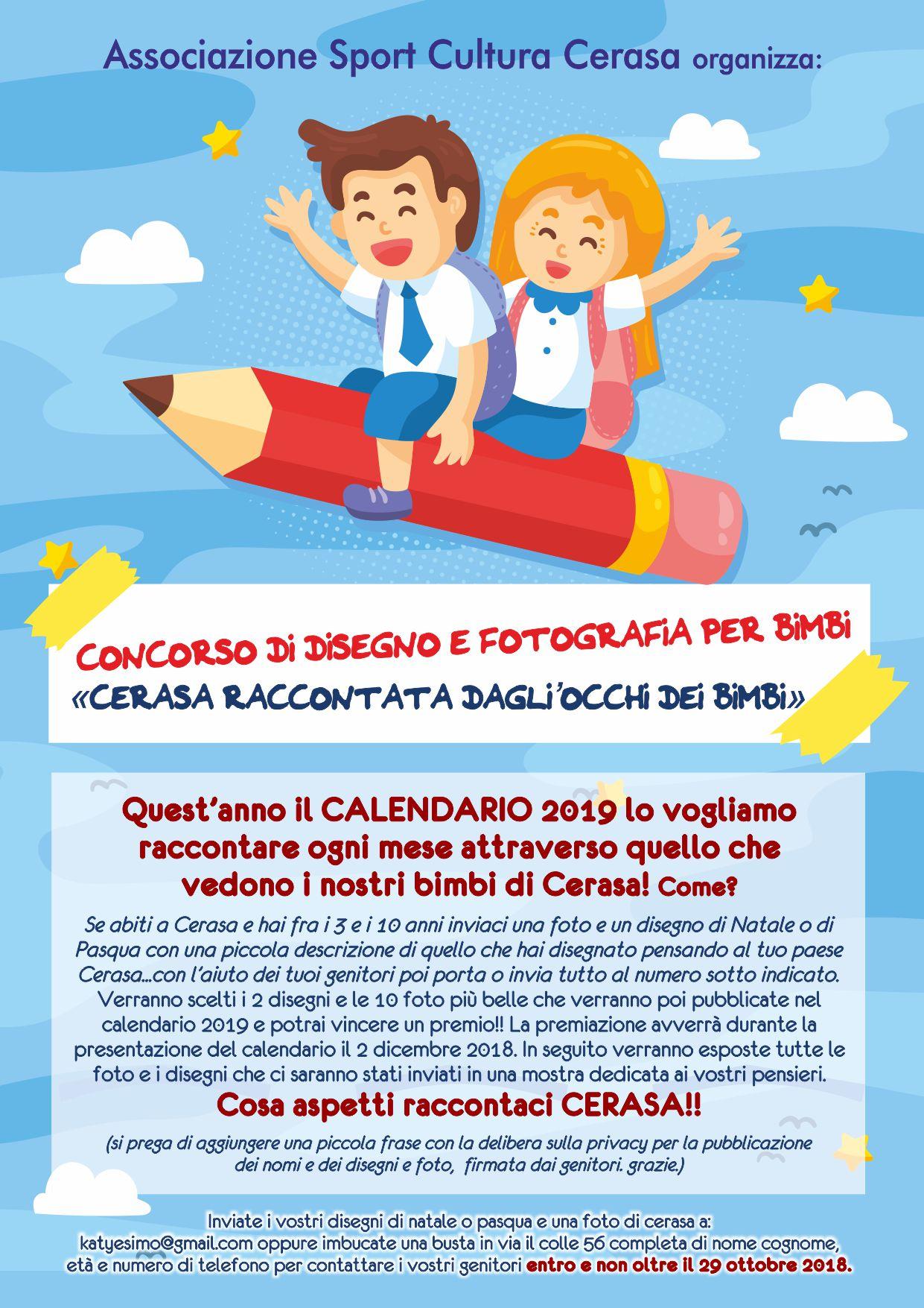Calendario Bimbi.Progetto Calendario Dei Bambini Associazione Sport